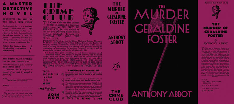 Murder of Geraldine Foster, The. Anthony Abbot