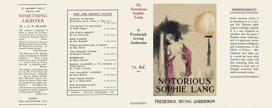 Notorious Sophie Lang, The. Frederick Irving Anderson
