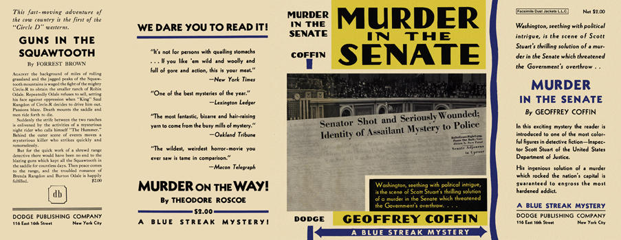 Murder in the Senate. Geoffrey Coffin.