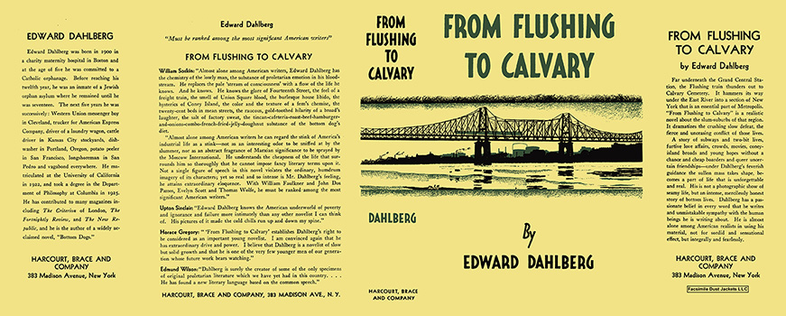 From Flushing to Calvary. Edward Dahlberg