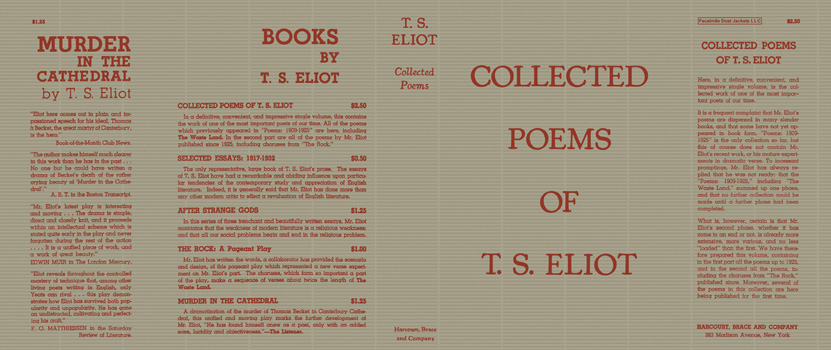 Collected Poems of T.S. Eliot. T. S. Eliot