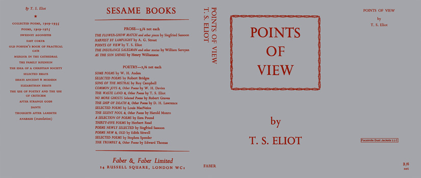 Points of View. T. S. Eliot