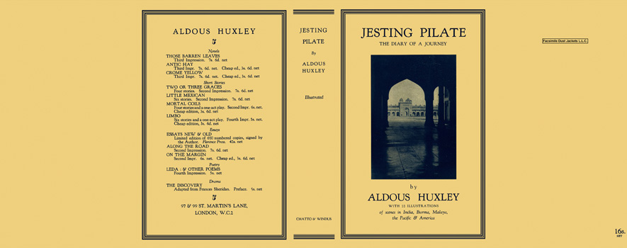 Jesting Pilate - The Diary of a Journey. Aldous Huxley