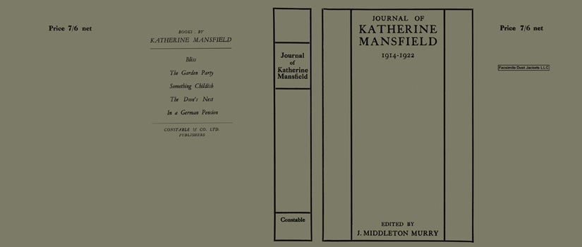 Journal of Katherine Mansfield 1914-1922. Katherine Mansfield