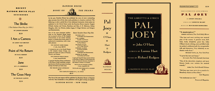 Pal Joey, The Libretto and Lyrics. John O'Hara