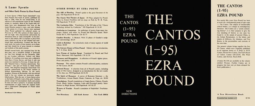 Cantos (1-95), The. Ezra Pound