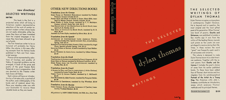 Selected Writings, The. Dylan Thomas