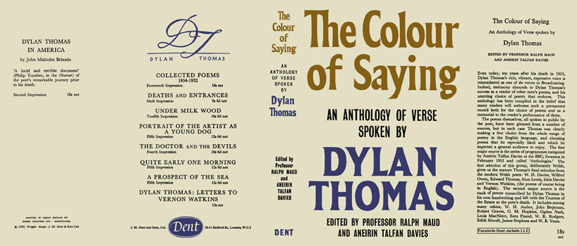 Colour of Saying, An Anthology of Verse Spoken by Dylan Thomas, The. Dylan Thomas