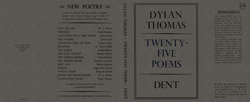 Twenty-Five Poems. Dylan Thomas