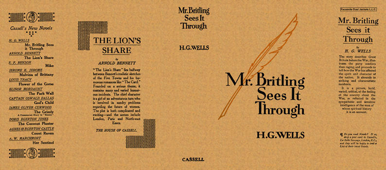 Mr. Britling Sees It Through. H. G. Wells