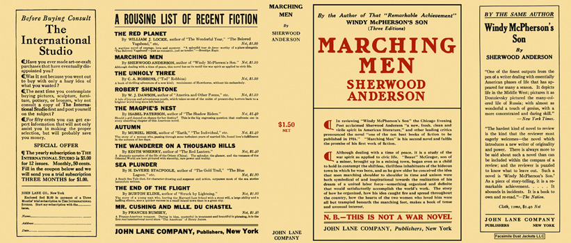 Marching Men. Sherwood Anderson