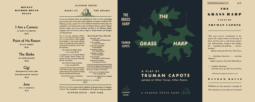 Grass Harp, A Play, The. Truman Capote