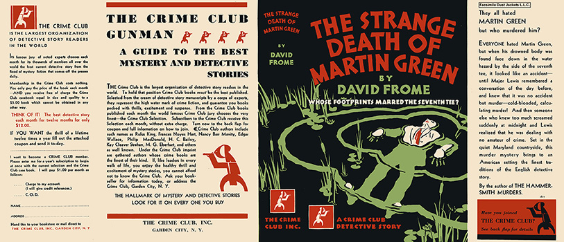 Strange Death of Martin Green, The. David Frome.