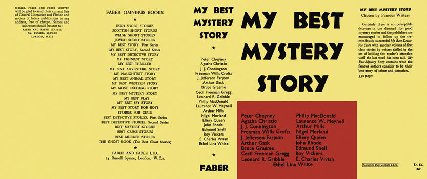 My Best Mystery Story. Anthology