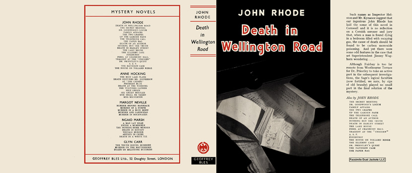 Death in Wellington Road. John Rhode