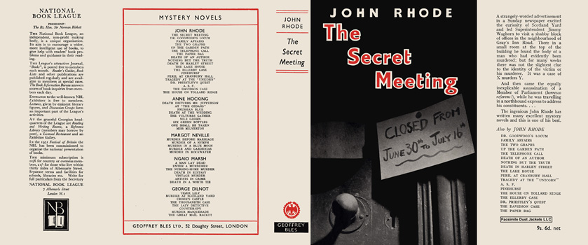 Secret Meeting, The. John Rhode
