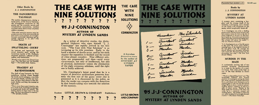 Case with Nine Solutions, The. J. J. Connington.