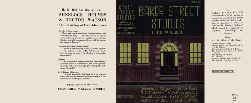 Baker Street Studies. H. W. Bell, Anthology