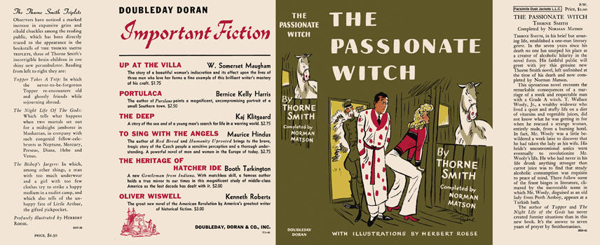Passionate Witch, The. Thorne Smith, Norman, Matson, Herbert Roese