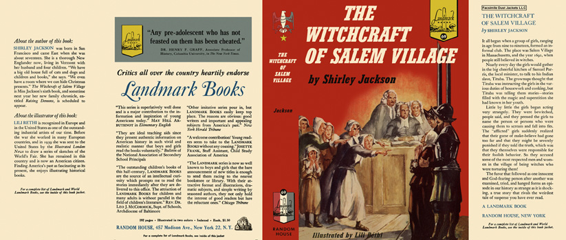 Witchcraft of Salem Village, The. Shirley Jackson