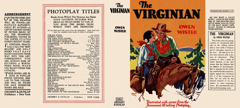 Virginian, The. Owen Wister