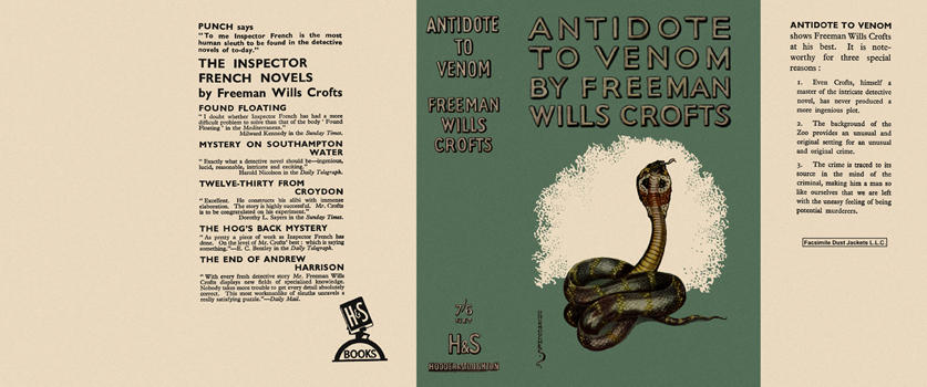 Antidote to Venom. Freeman Wills Crofts