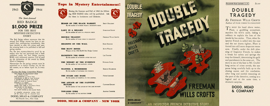 Double Tragedy. Freeman Wills Crofts