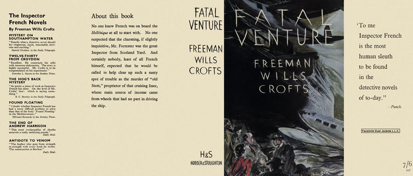 Fatal Venture. Freeman Wills Crofts