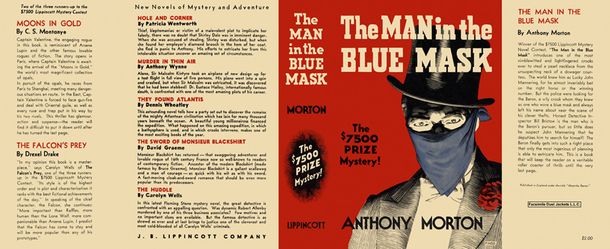 Man in the Blue Mask, The. Anthony Morton.