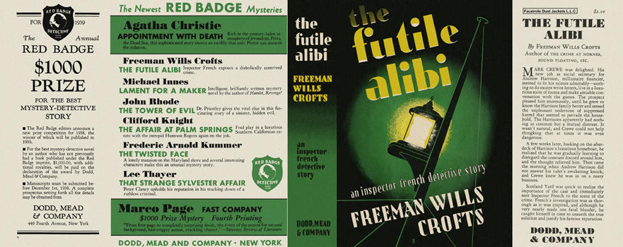Futile Alibi, The. Freeman Wills Crofts.