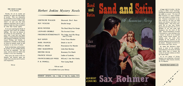 Sand and Satin. Sax Rohmer