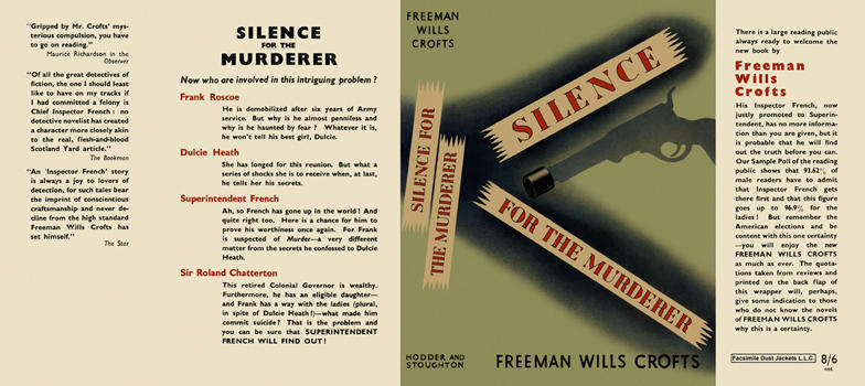 Silence for the Murderer. Freeman Wills Crofts.