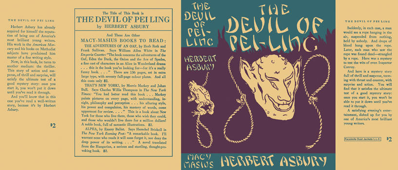 Devil of Pei-Ling, The. Herbert Asbury