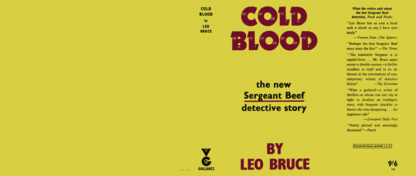Cold Blood. Leo Bruce.