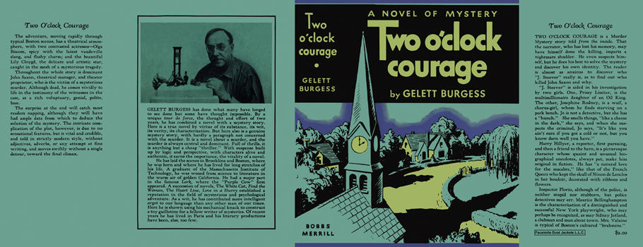 Two O'Clock Courage. Gelett Burgess.
