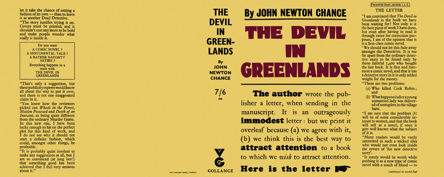 Devil in Greenlands, The. John Newton Chance.