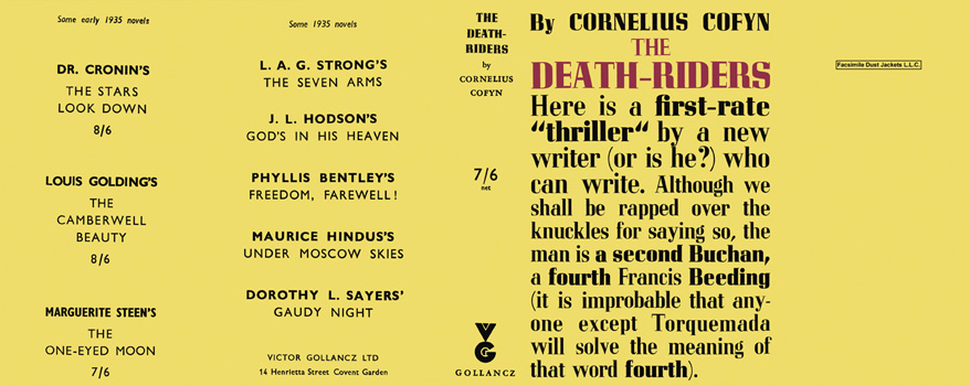 Death-Riders, The. Cornelius Cofyn.