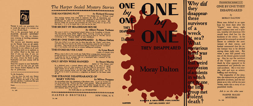 One by One They Disappeared. Moray Dalton.