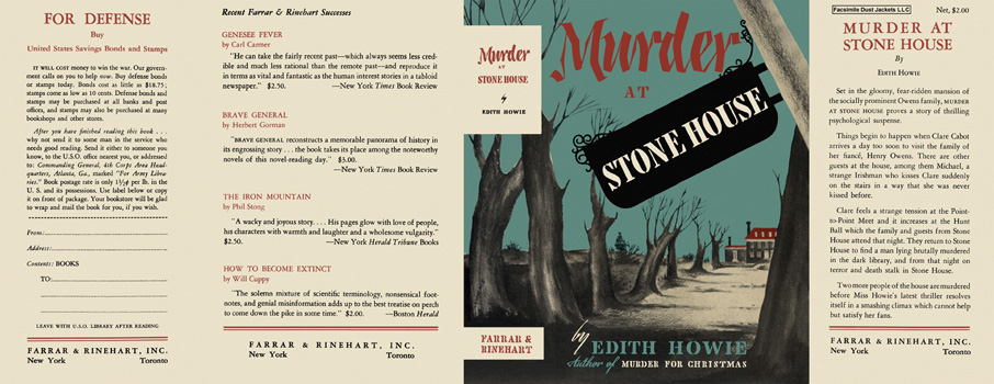 Murder at Stone House. Edith Howie.
